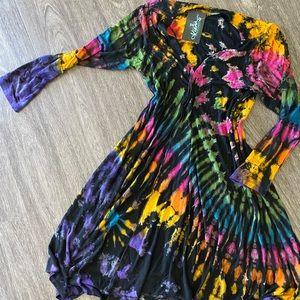 New! Tye Dye Tunic | Dress Boho Hippie Festival
